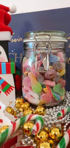 Vegan Fizzy & Sour pick 'n mix sweets glass gift jar of sweets 800g