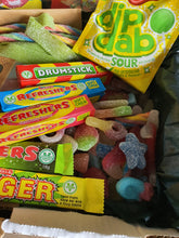 Load image into Gallery viewer, Vegan Pick & Mix Isolation Pack Vegan Sweets Flying Saucers Fizzy and Sour
