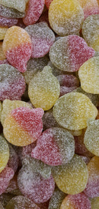 Vegan sour apple flavour fizzy pick & mix sweets in compostable, plastic free packaging