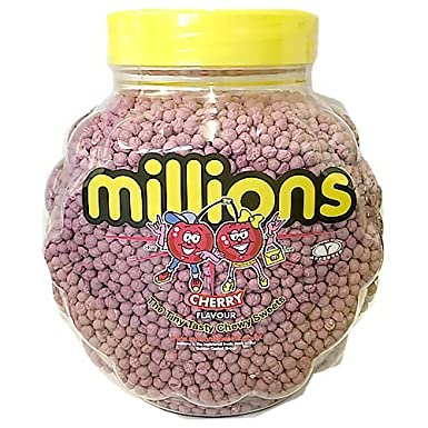 Cherry flavour Millions chewy sweets UK