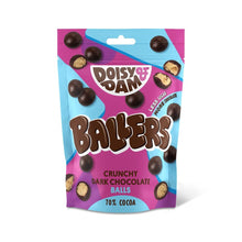 Load image into Gallery viewer, Doisy & Dam Ballers crunchy dark chocolate balls share bag 70g