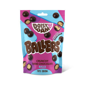 Doisy & Dam Ballers crunchy dark chocolate balls share bag 70g