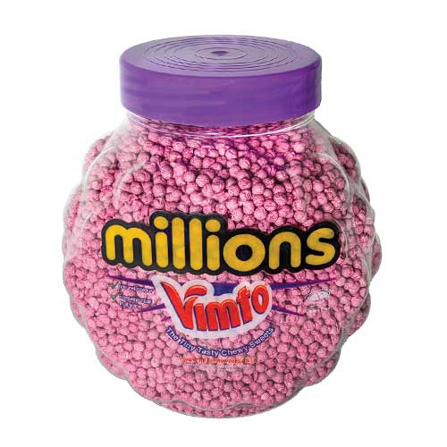 Vimto flavour Millions vegan/vegetarian sweets bags. UK seller of Vimto flavour sweets