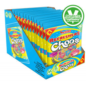 Swizzels Refreshers Choos vegan retro, fizzy & chewy fruit flavoured sweets, 135g £1 bag