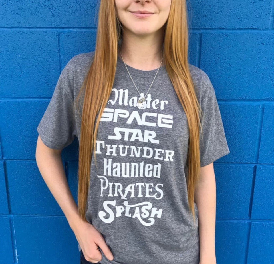 Matter Space Star Thunder Haunted Pirates Splash Land Tshirt - 1 For 25$ or 2 For 40$ + Free Shipping USA Only