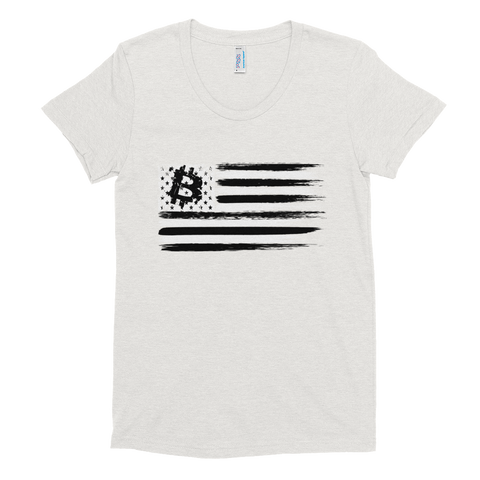 BTC Flag Women's T-Shirt - Crypto Fits