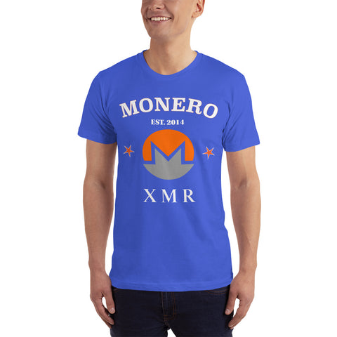 Monero XMR Men's T-shirt ( 2nd color combo ) - Crypto Fits