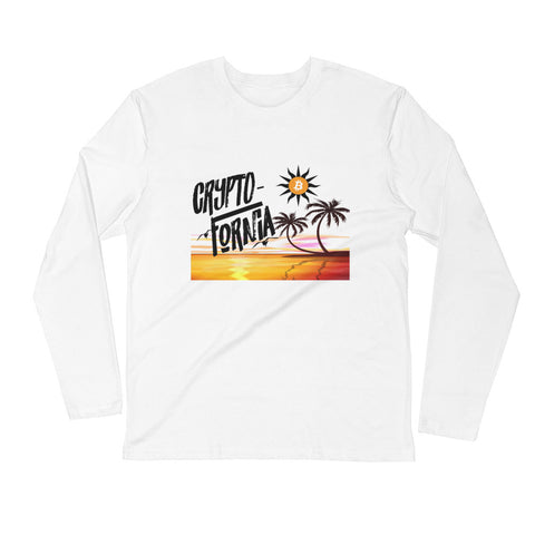 Crypto-Fornia White Long Sleeve Crew - Crypto Fits