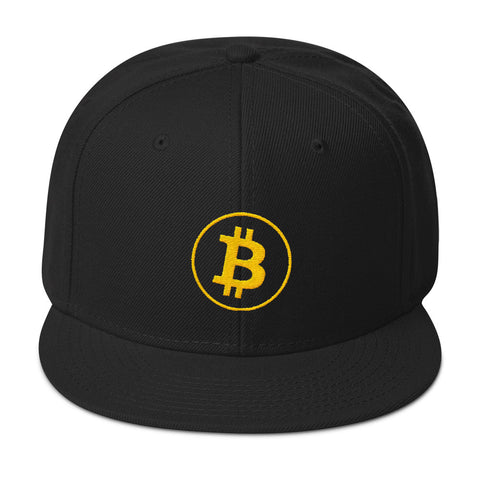 Yellow Stitch Bitcoin Hat