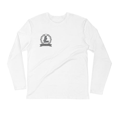 LiteCoin LTC Men's Long Sleeve Fitted T-Shirt - Crypto Fits