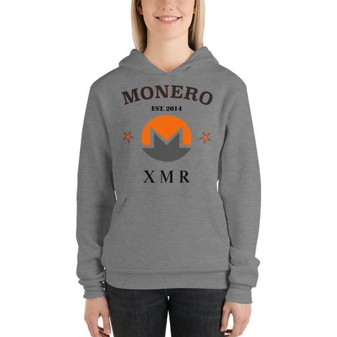 Monero XMR Women's No Zip Hoodie - Crypto Fits