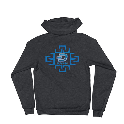 Dash Digital Front and Back Women's Zip Hoodie - Crypto Fits