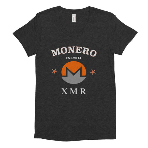 Monero XMR Women's Crew Neck T-shirt - Crypto Fits