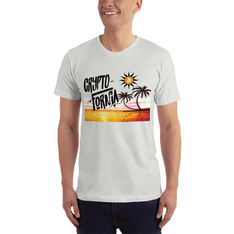 Crypto-Fornia Men's T-Shirt with No Border - Crypto Fits