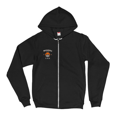 Monero XMR Men's Zip Hoodie - Crypto Fits