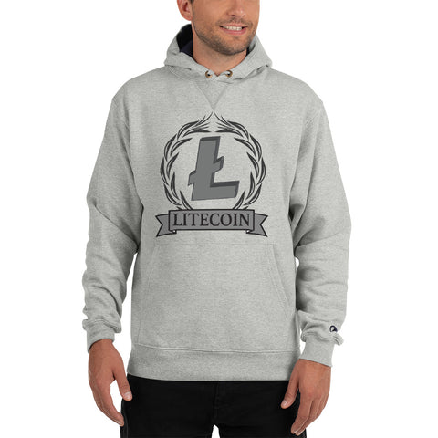 LiteCoin LTC Men's Gray Thick Hoodie - Crypto Fits