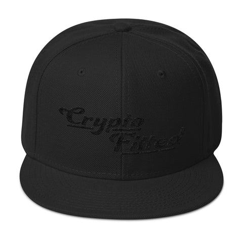 Crypto Fitted Snapback Hat - Crypto Fits