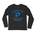 Digibyte DGB Long Sleeve Fitted Crew - Crypto Fits