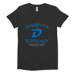 Digibyte DGB Women's Crew Neck T-shirt - Large Print - Crypto Fits