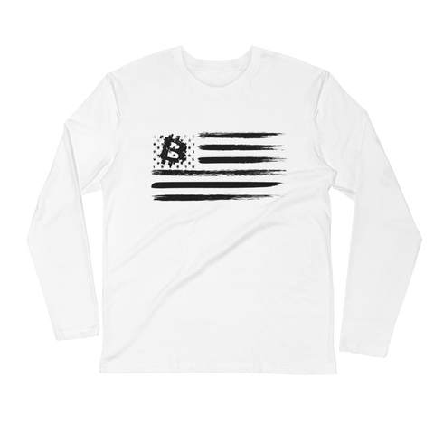 BTC Flag long Sleeve T-Shirt - Crypto Fits