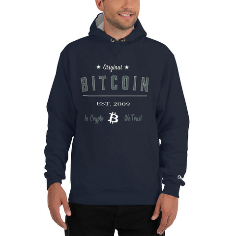 Original Bitcoin Thick Hoodie - Crypto Fits