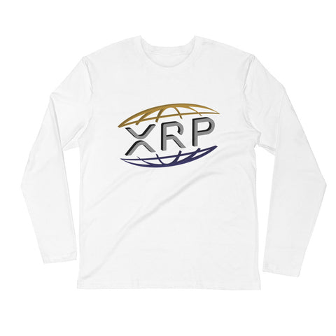 XRP Ripple Men's Long Sleeve Fitted Crew