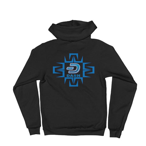Dash Digital Front and Back Men's Zip Hoodie - Crypto Fits