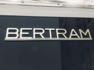 Bertram Stainless Steel Emblem