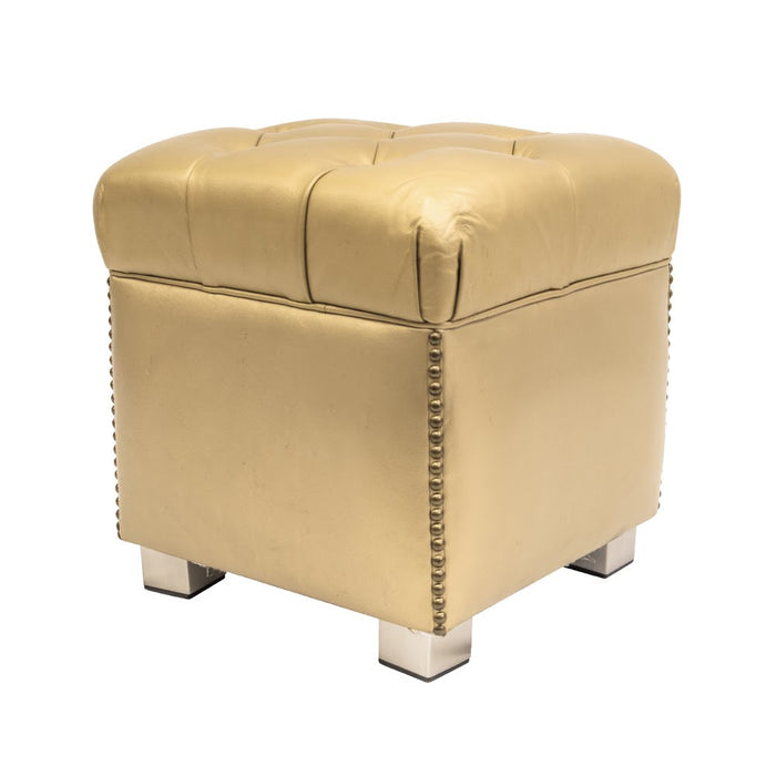 Chester Gold Pouf