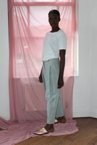 Sustainable & ethically made high waist cotton trousers