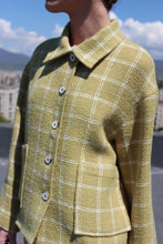 Load image into Gallery viewer, Sustainable & ethically made wool check jacket