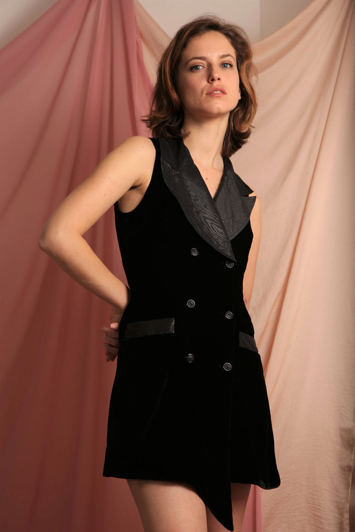 Sustainable & ethically made double breasted blazer dress