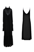Load image into Gallery viewer, Black pleated dress