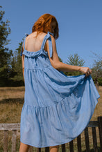 Load image into Gallery viewer, Blue gathered dress