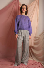 Load image into Gallery viewer, Sustainable linen check high waist trousers