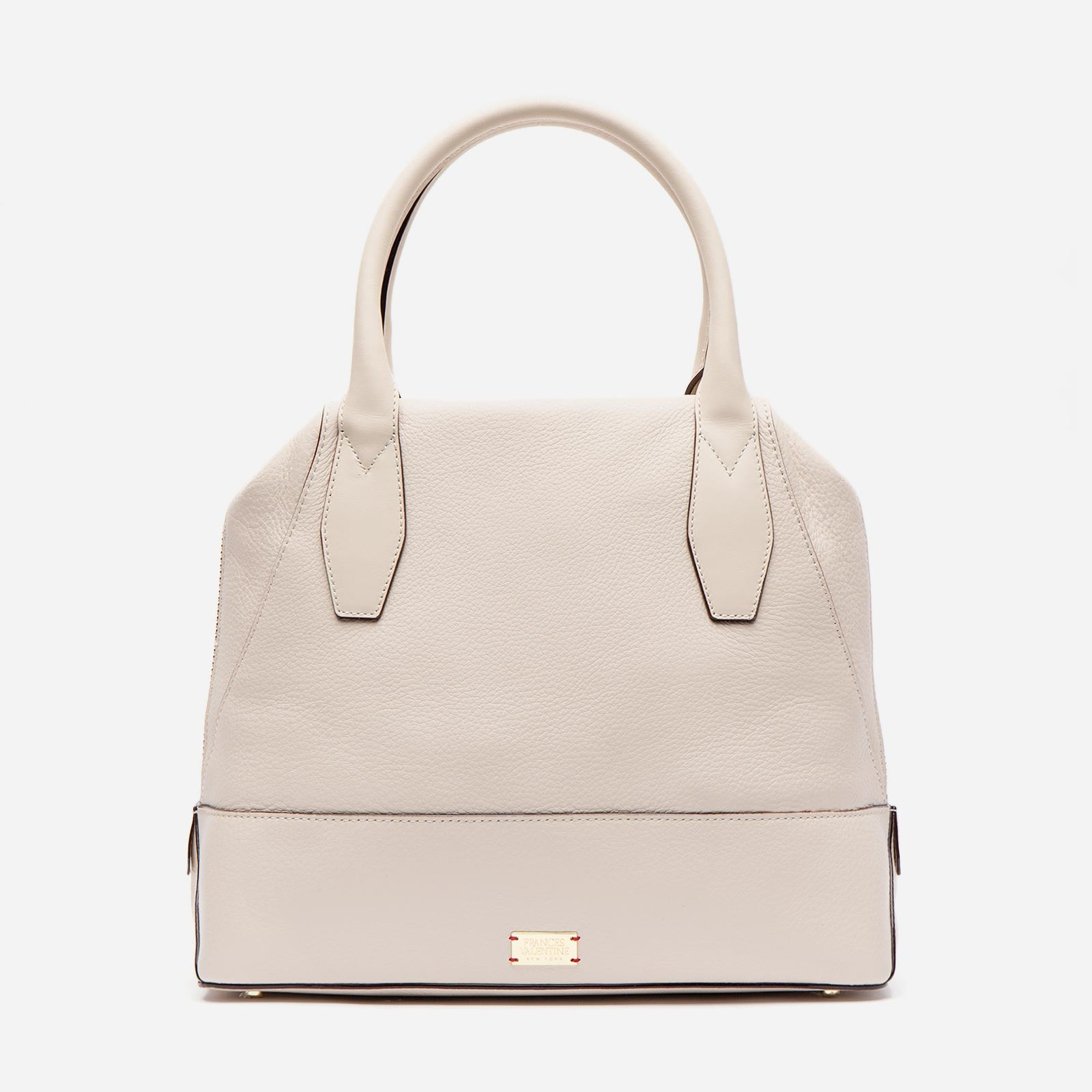 Abby Tote Tumbled Leather Oyster - Frances Valentine