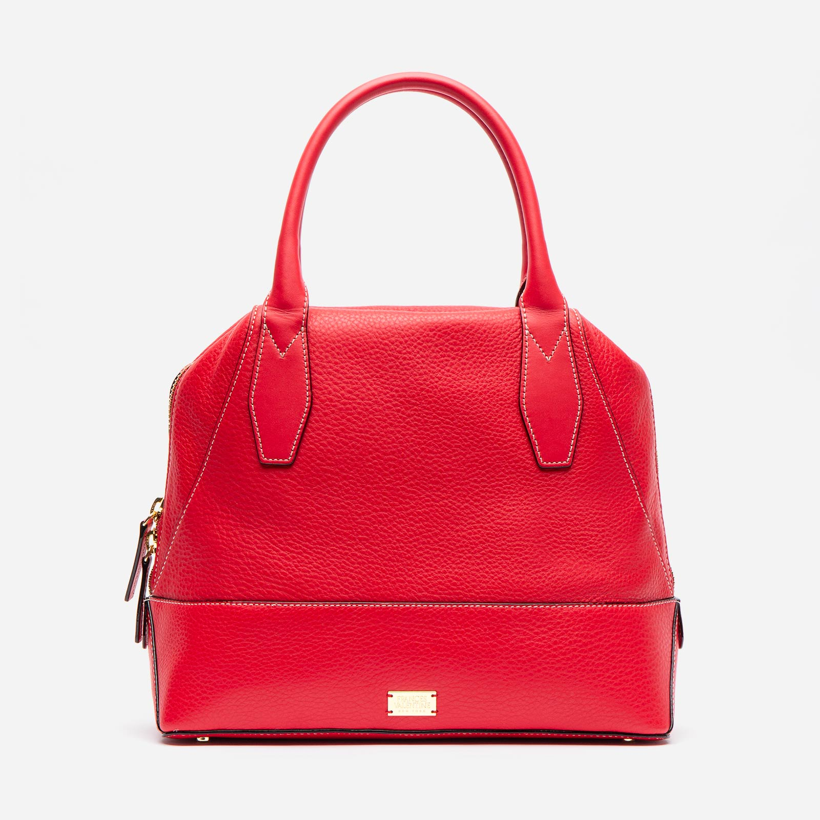 Abby Tote Tumbled Leather Red