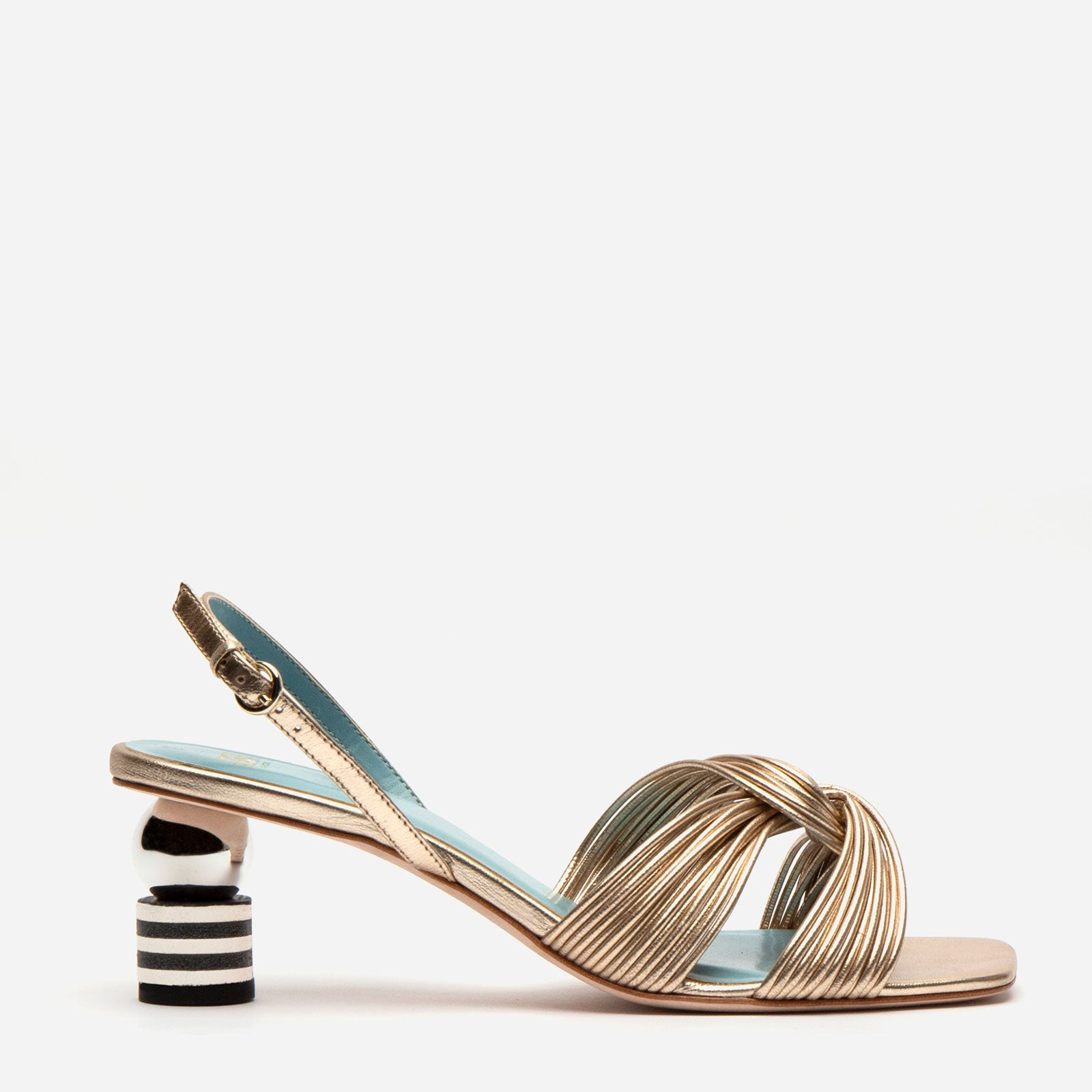 Alison Leather Slingback Sandal Gold