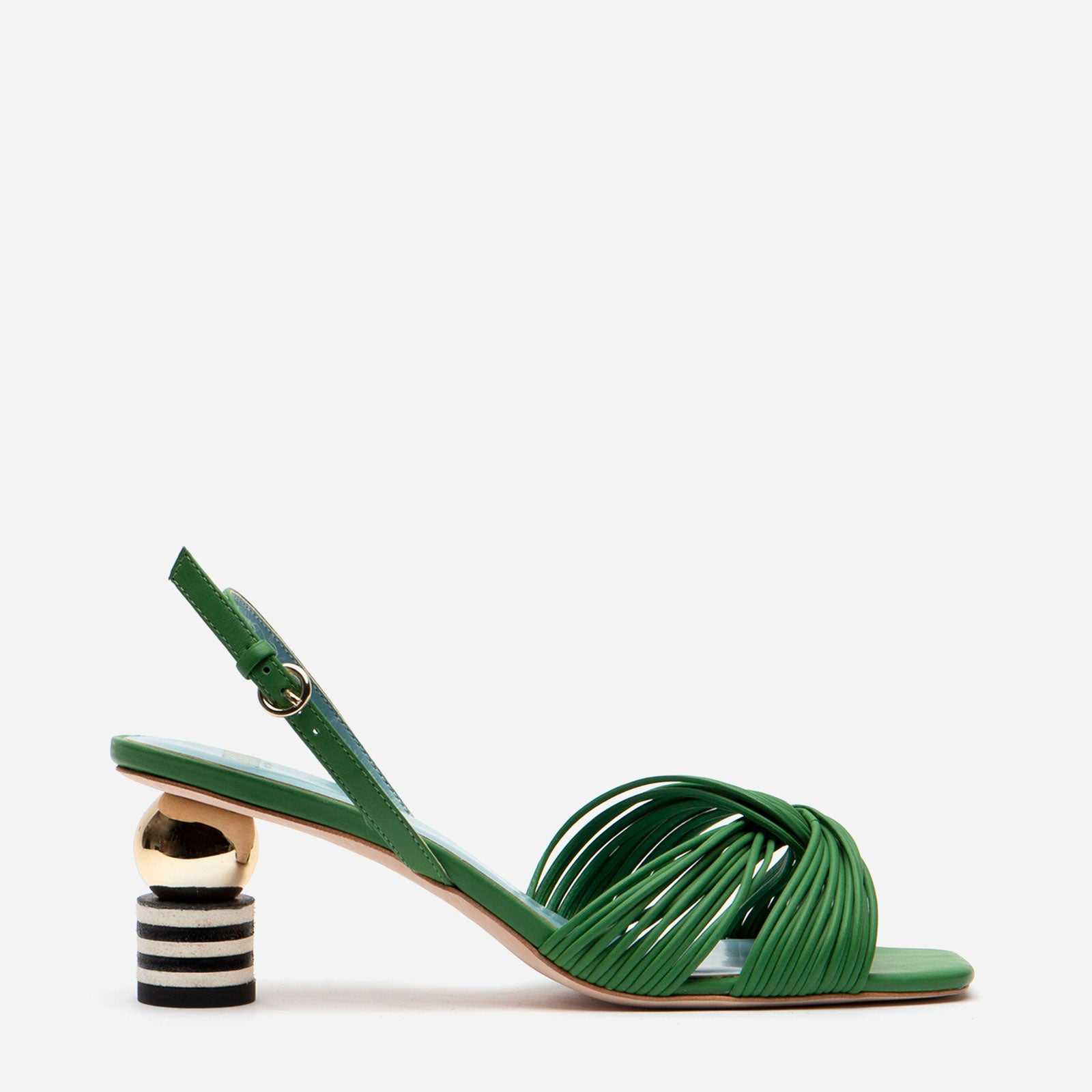 Alison Leather Slingback Sandal Green