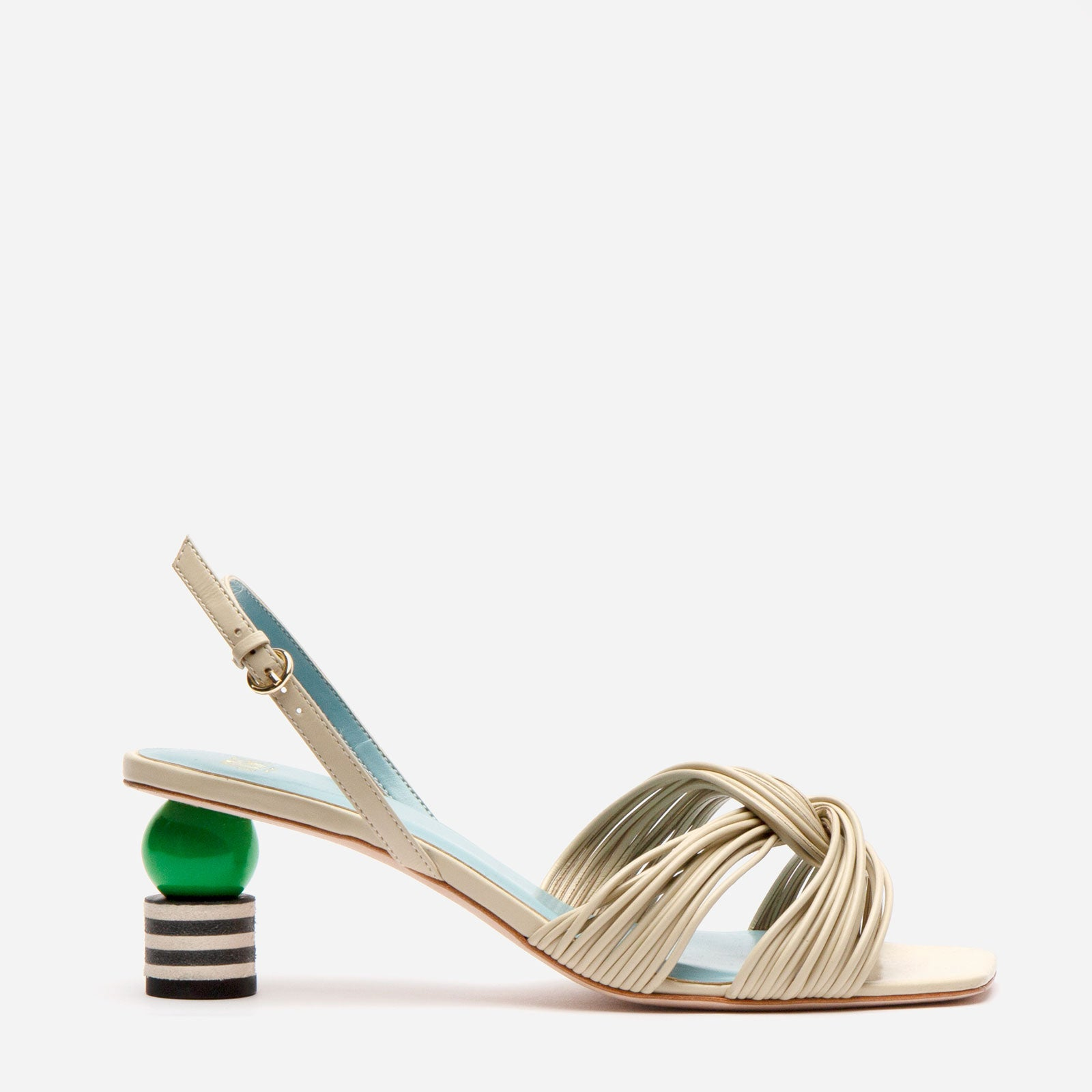 Alison Leather Slingback Sandal Oyster
