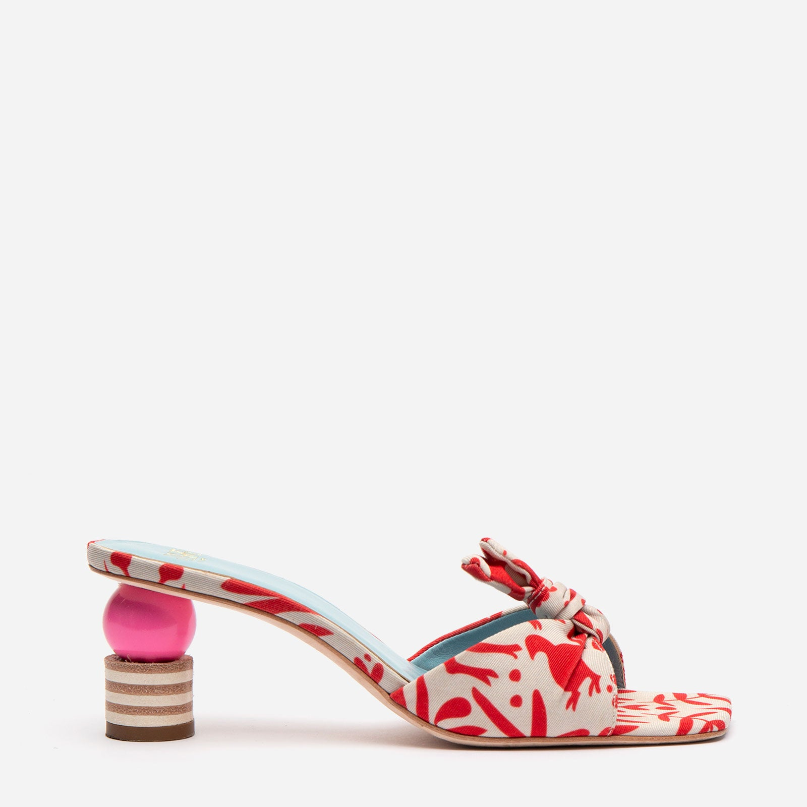 Amanda Mule Silk Faille Veracruz Red