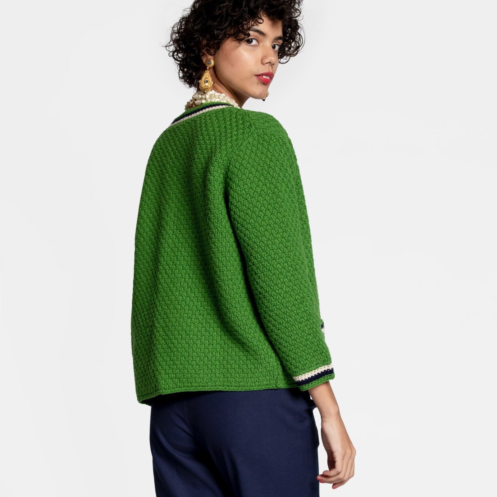 Angie Cardigan Kelly Green