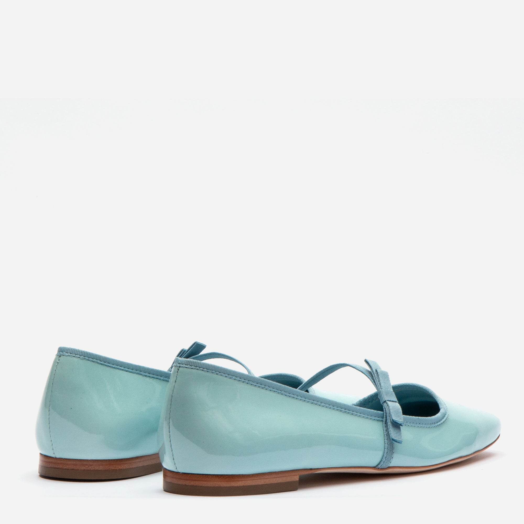 Jude Mary Jane Flats Light Blue Patent