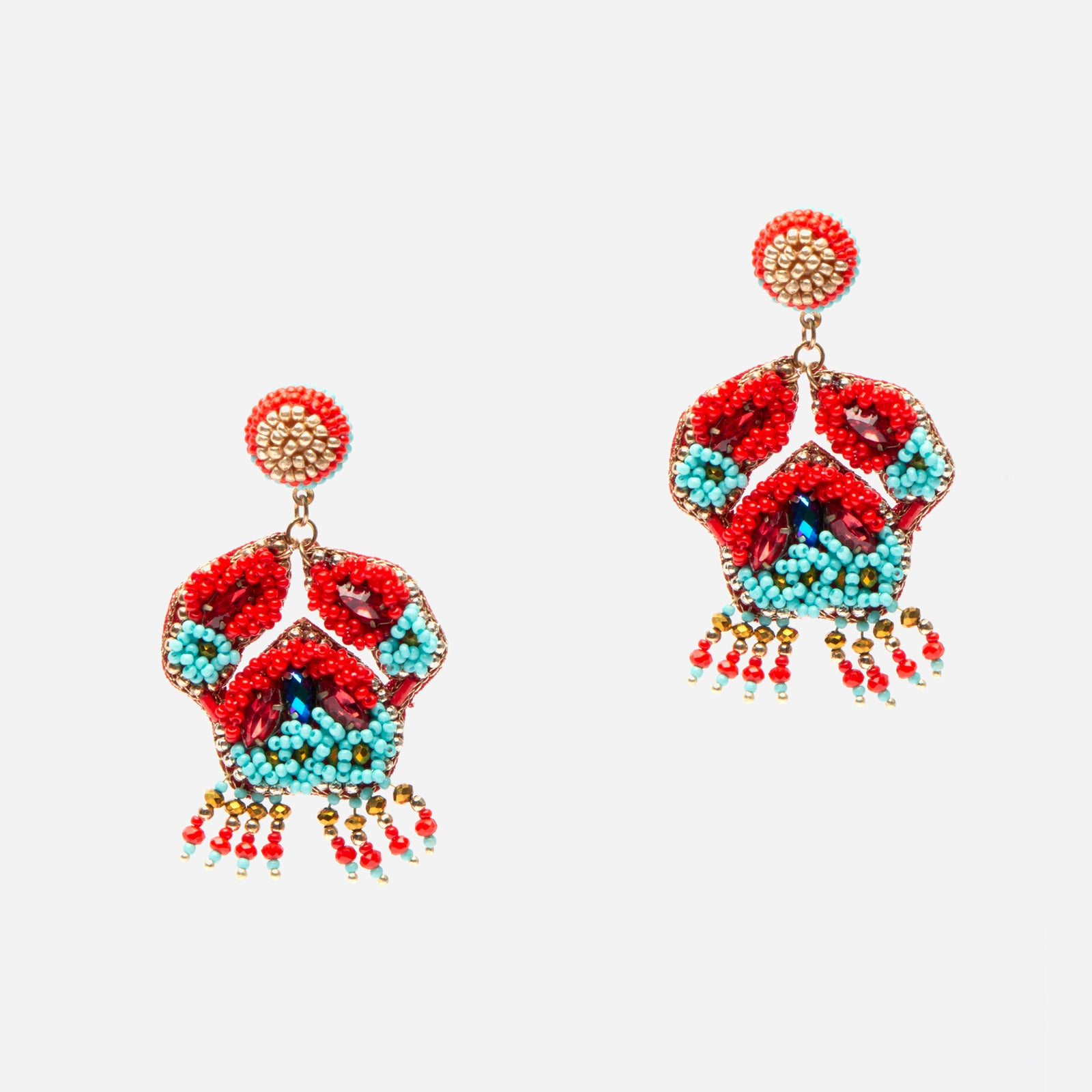 Crabby Beaded Earring