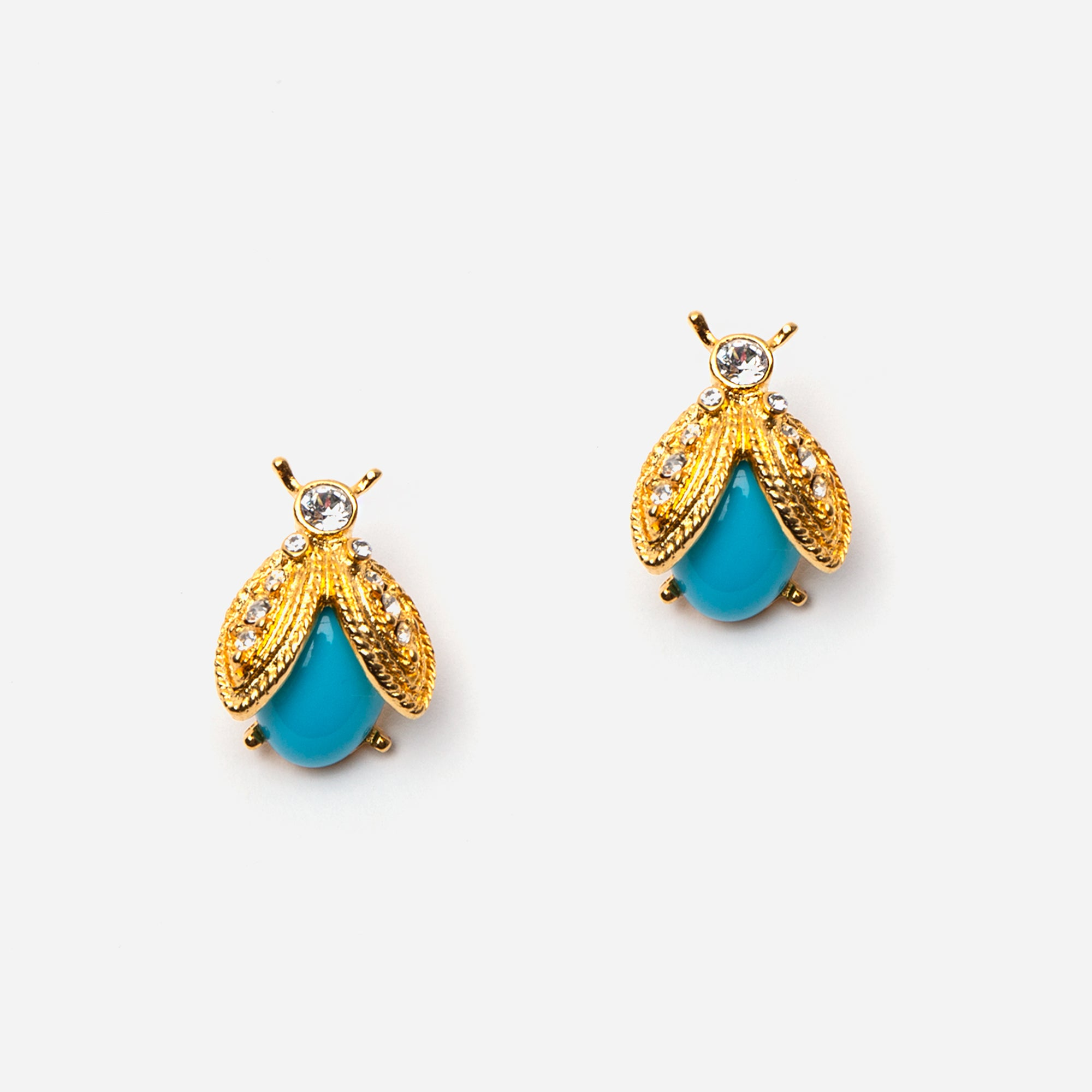 Turquoise Bee Earrings
