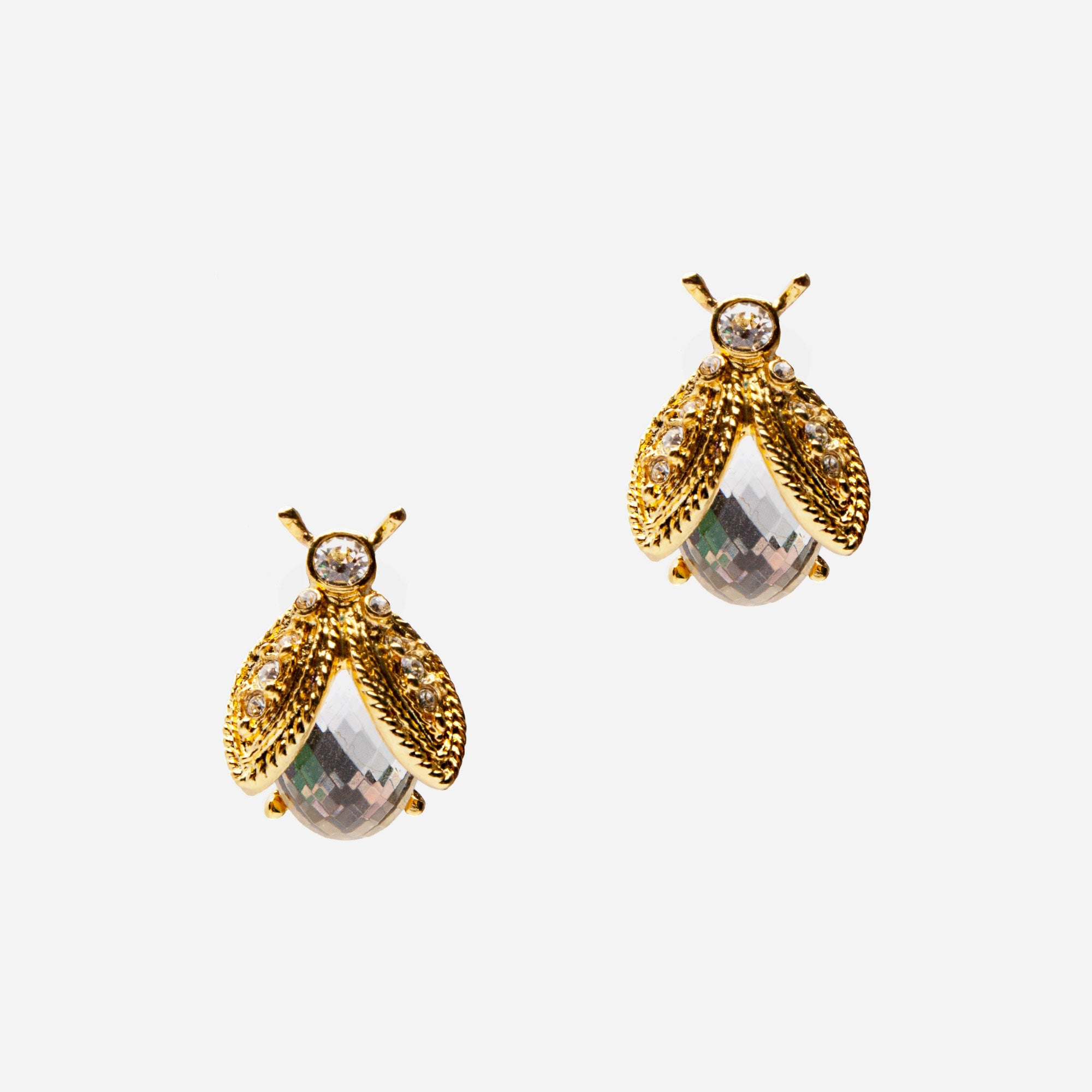 Crystal Bee Earrings - Frances Valentine