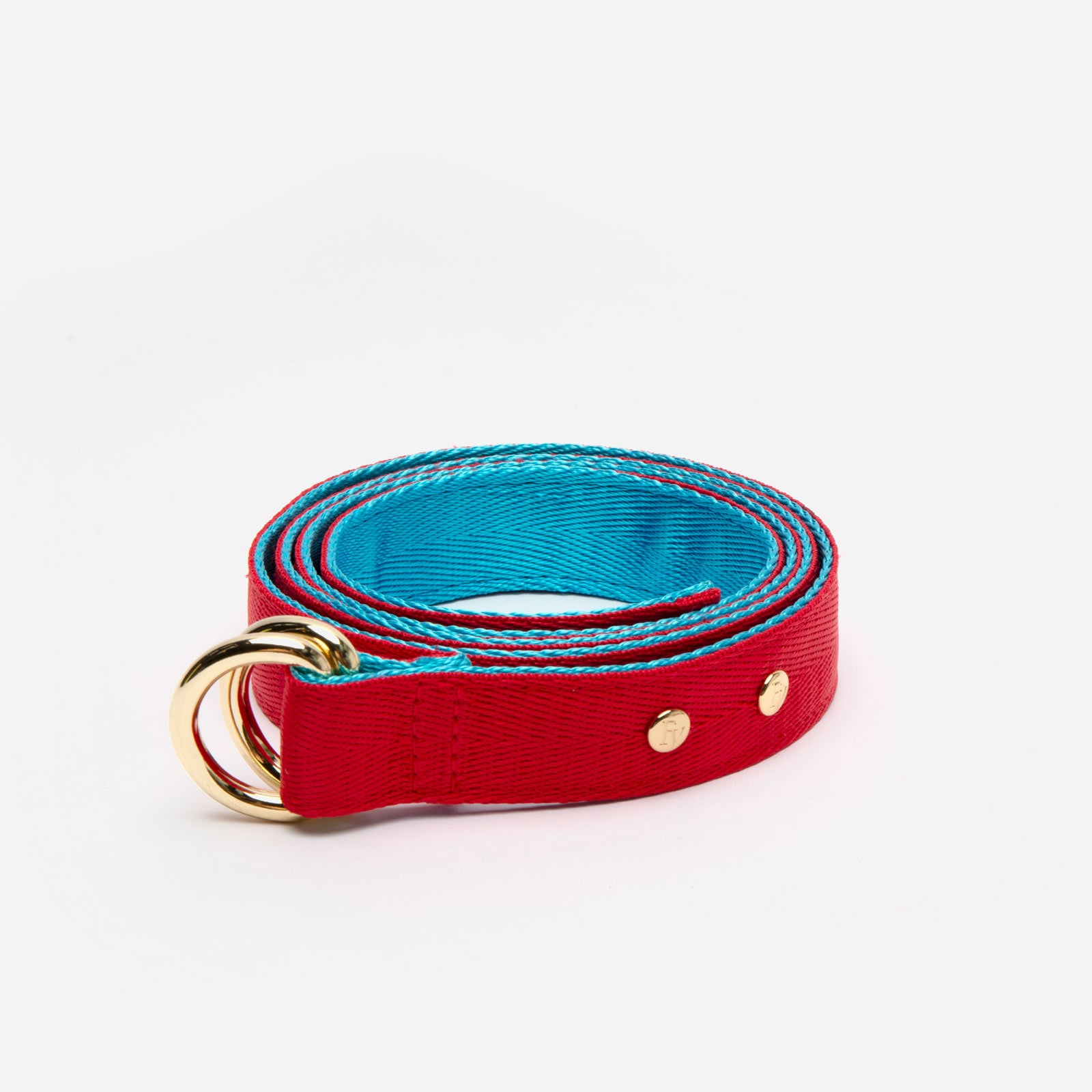 Reversible Webbing Belt Red Light Blue
