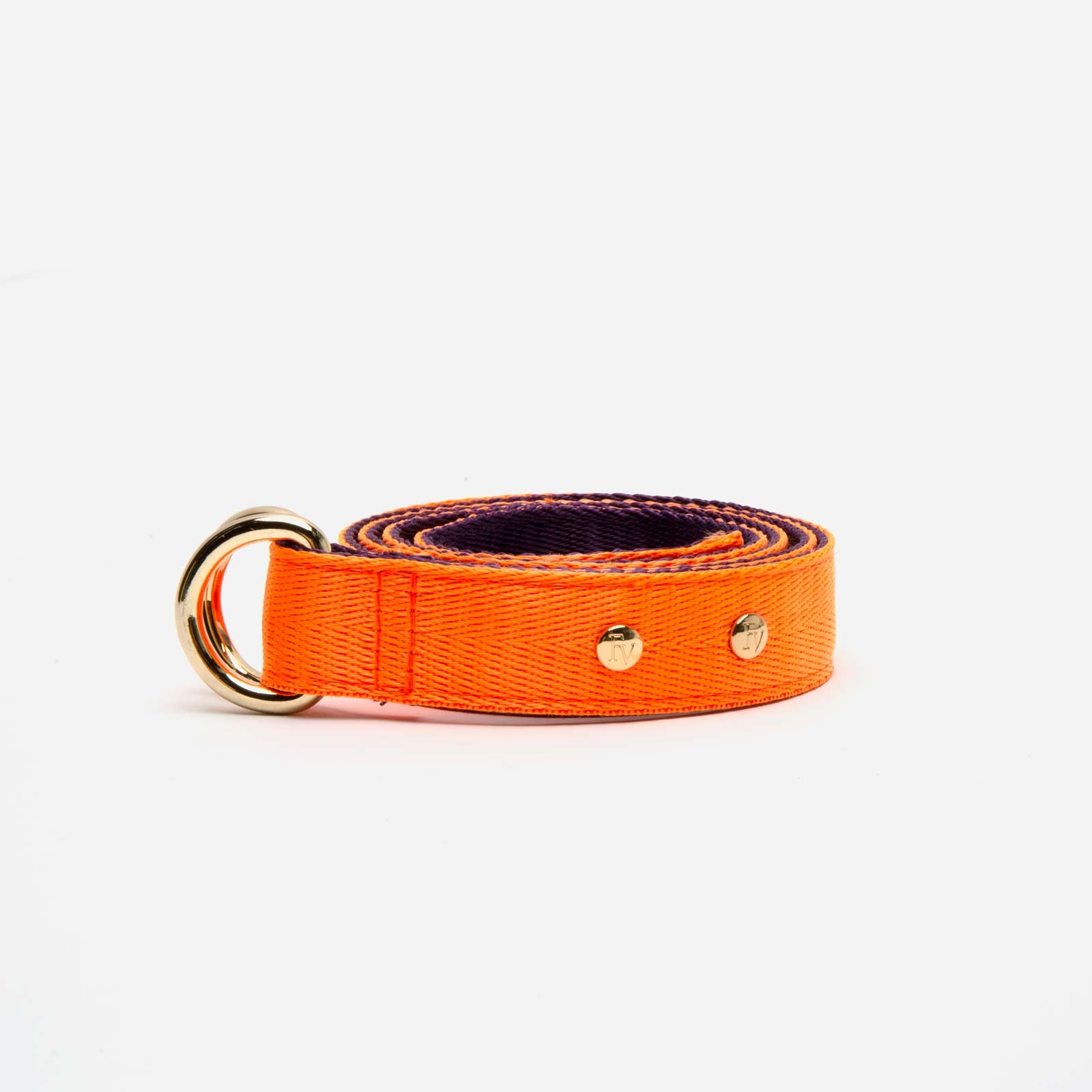 Reversible Webbing Belt Orange Purple