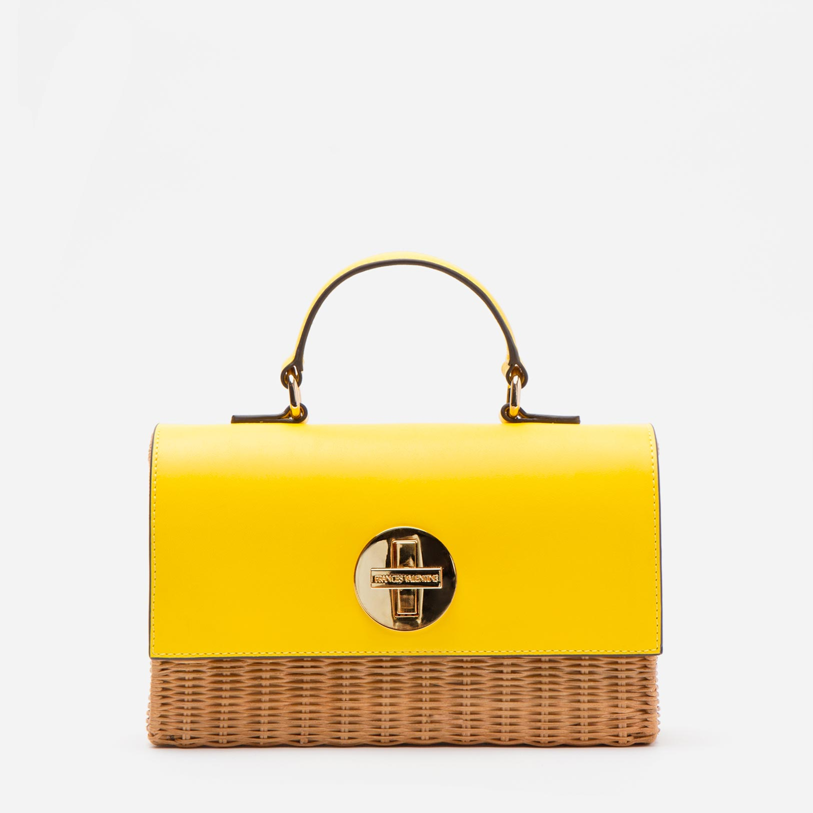 Bess Wicker Crossbody Natural Yellow