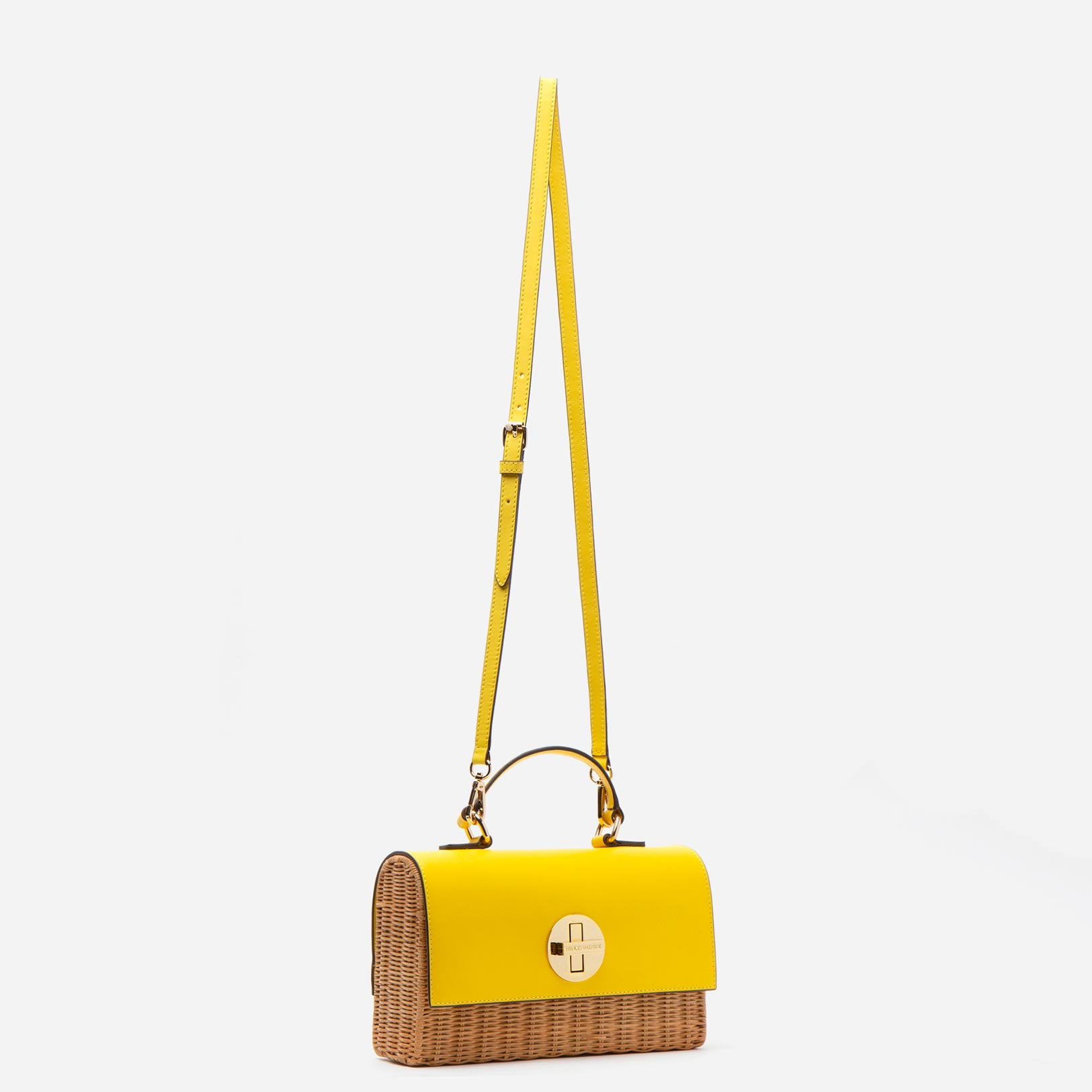 Bess Wicker Basket Yellow